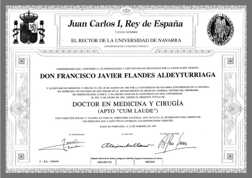 Certificado Flandes Cum Laude Medicina y Cirugia