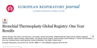 registro global de termoplastia bronquial