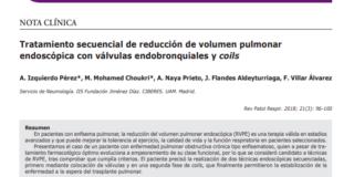 reducción de volumen pulmonar endoscópica con válvulas endobronquiales y coils