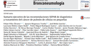 Recomendaciones SEPAR cáncer de pulmón de células no pequeñas