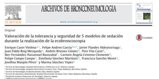 Tolerancia y seguridad de 5 modelos de sedación de la ecobroncoscopia
