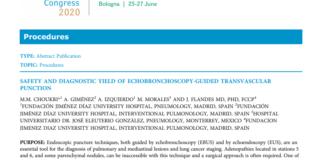 Diagnóstico de Cirugía Transvascular guiada por Ecobroncoscopia Punción