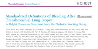 Definiciones estandarizadas de sangrado después de biopsia pulmonar