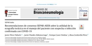 Recomendaciones ecografía torácica a pacientes con covid19